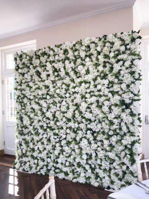 Blomstervegg til bryllup og selskap