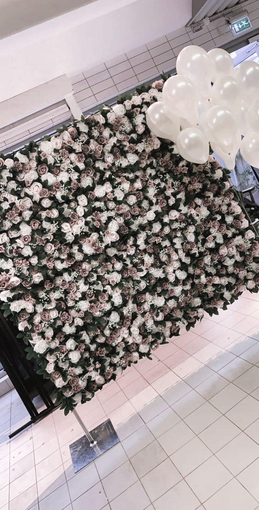 blomstervegg til leie, blomstervegg til bryllup, blomster vegg til bryllup. blomstervegg til dåp, blomstervegg til babyshower, blomstervegg til utdrikningslag, blomstervegg til bridal shower